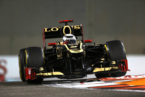 Kimi Raikkonen em Abu Dhabi 2012