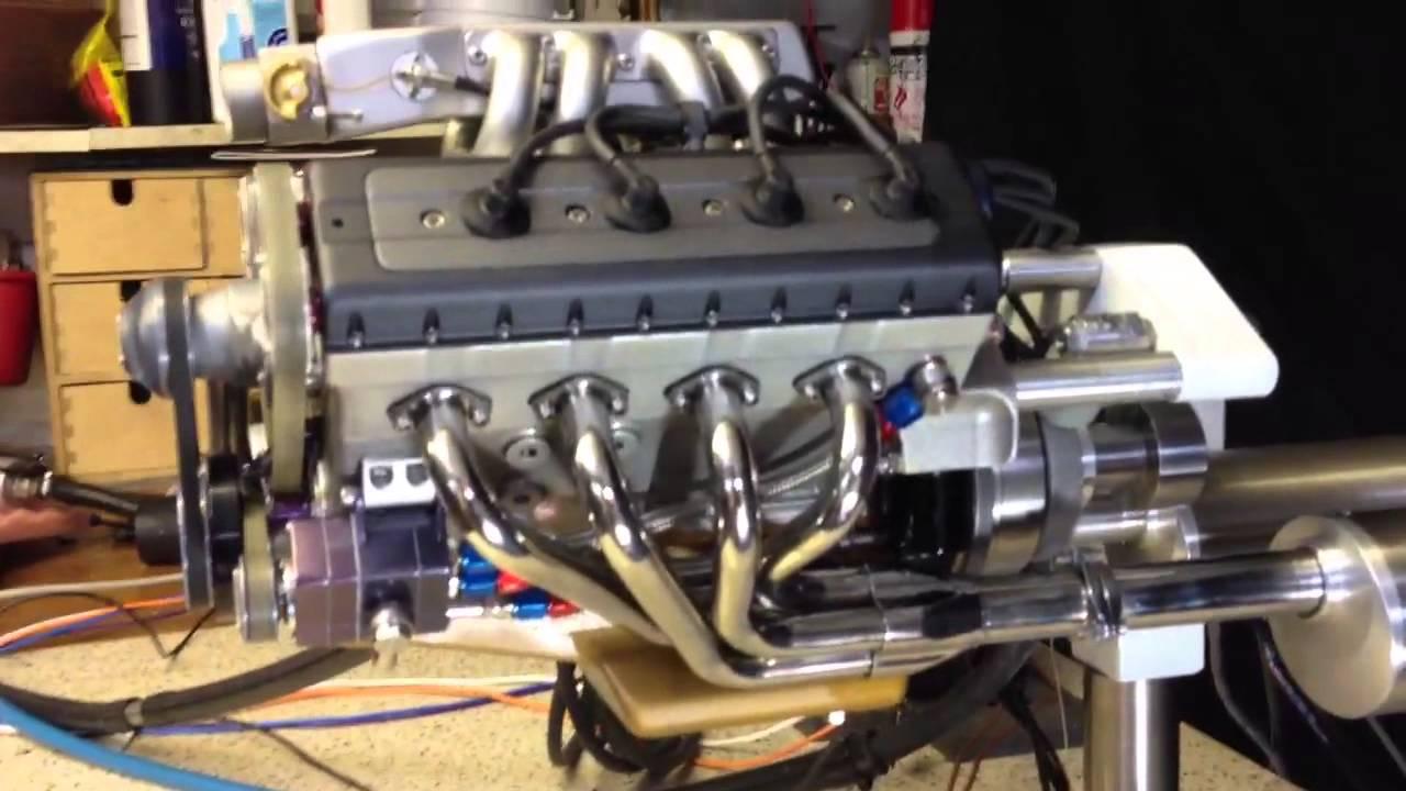 Motor V8 Miniatura