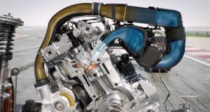 Motor com injeção de água